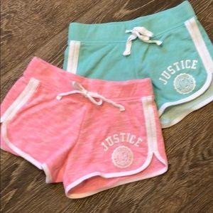 2 pairs JUSTICE shorts